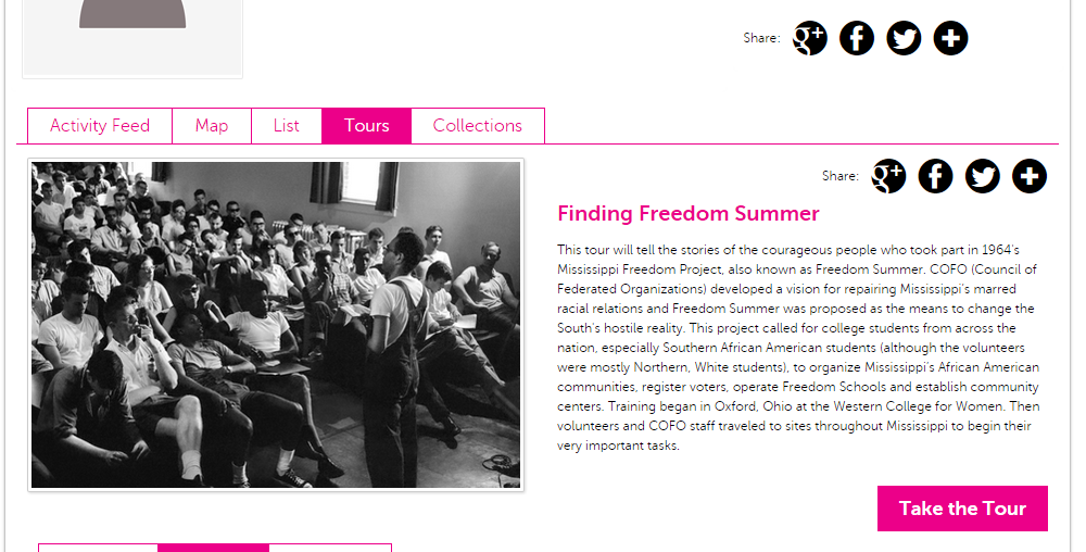 "Sydney's ""Freedom Summer"" Tour on Historypin."
