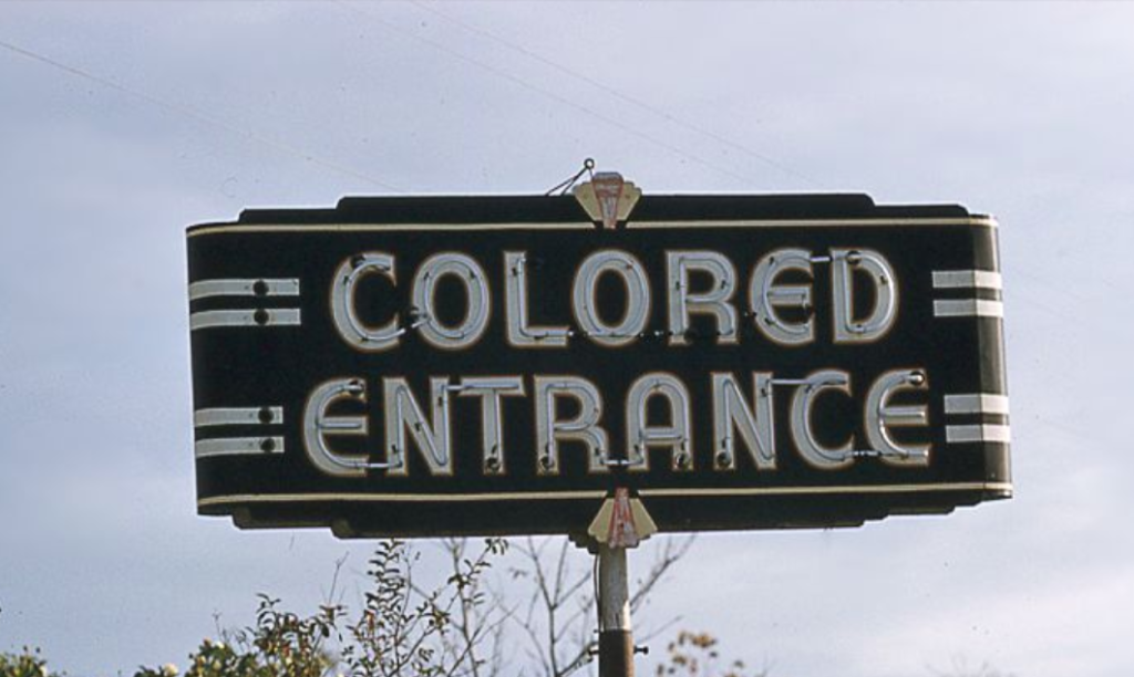 """Colored entrance"" sign, Mississippi, 1958."