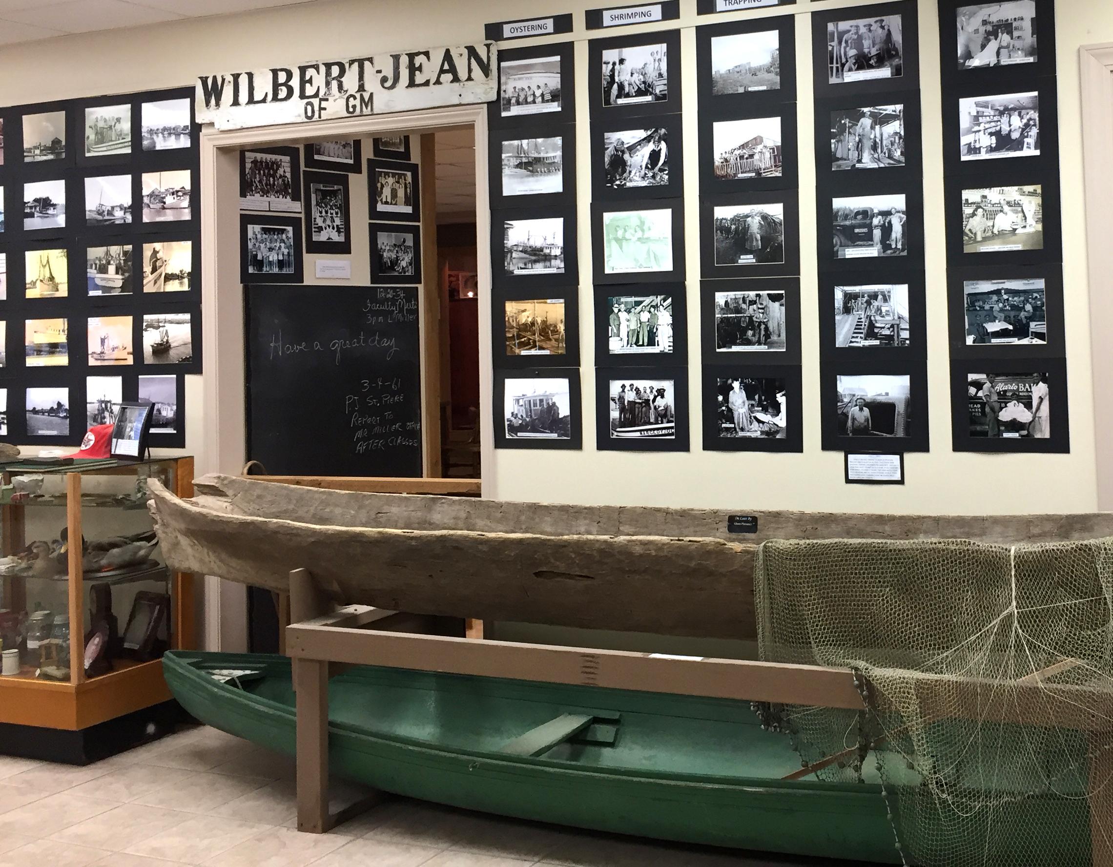 Photo memory wall at Golden Meadow Library, Louisiana