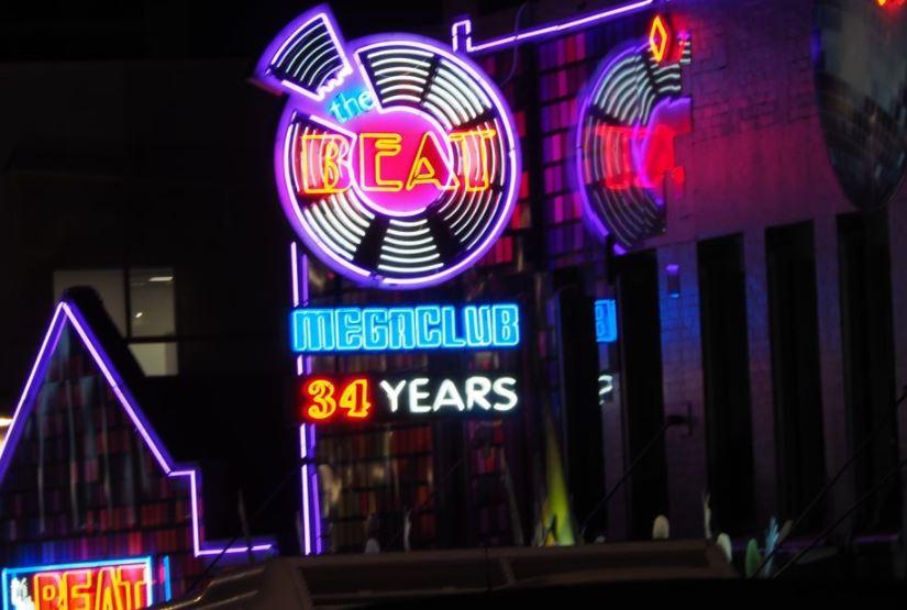 The Beat neon sign in Queensland