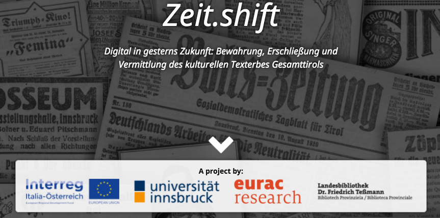 old newspapers in German and logos